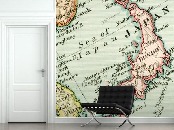 son moda harita desenli duvar kagitlari