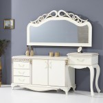 yeni trend beyaz makyaj masasi modelleri