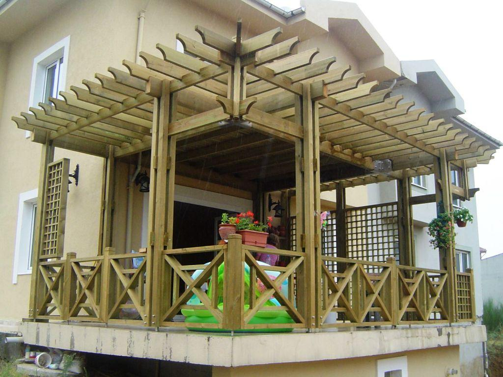 balkon pergola dekorstyle. Black Bedroom Furniture Sets. Home Design Ideas