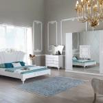 beyaz avangarde yatak odasi