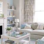 beyaz mavi country oturma odasi