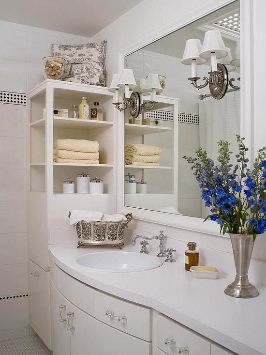 beyaz modern banyo dekorasyonu