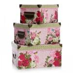 cicek desenli dekoratif kutular