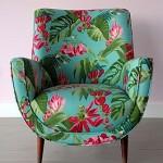cicek desenli vintage tekli koltuk