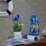 dekoratif mavi fener