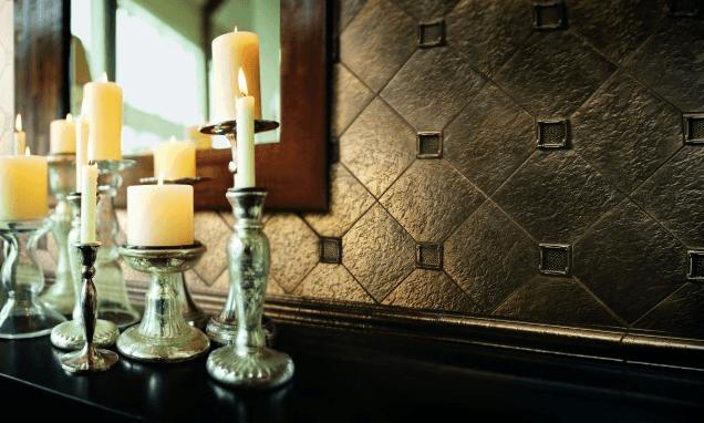 dekoratif metal fayanslar