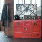 dekoratif rustik dolap