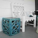 dekoratif seramik bahce tabureleri
