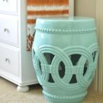 dekoratif seramik tabure