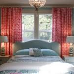 desenli yatak oda perdesi