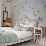 eskitme dekoratif yatak odasi