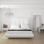 etkileyici beyaz yatak odalari