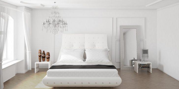 16 Beyaz Modern Yatak Odası Modeli