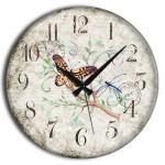 frank ray kelebek desenli duvar saati