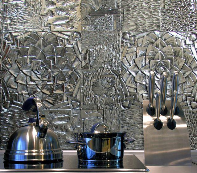 kabartma desenli metal fayans modelleri