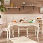 Krem rengi country mutfak masası