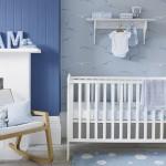 mavi beyaz erkek bebek odalari