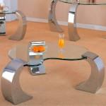 metal ayakli dekoratif cam sehpa