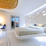 modern beyaz yatak odasi modeli