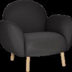 modern siyah tekli koltuk