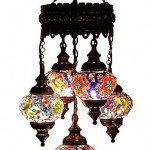 mozaik renkli kandil avize