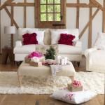 oturma odasi country dekorasyon modeli