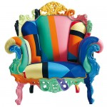 rengarenk dekoratif tekli koltuk