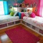 renkli kardes odasi dekorasyon modeli