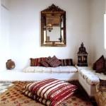 sedirli otantik ev dekorasyonu