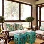seramik dekoratif bahce tabureleri