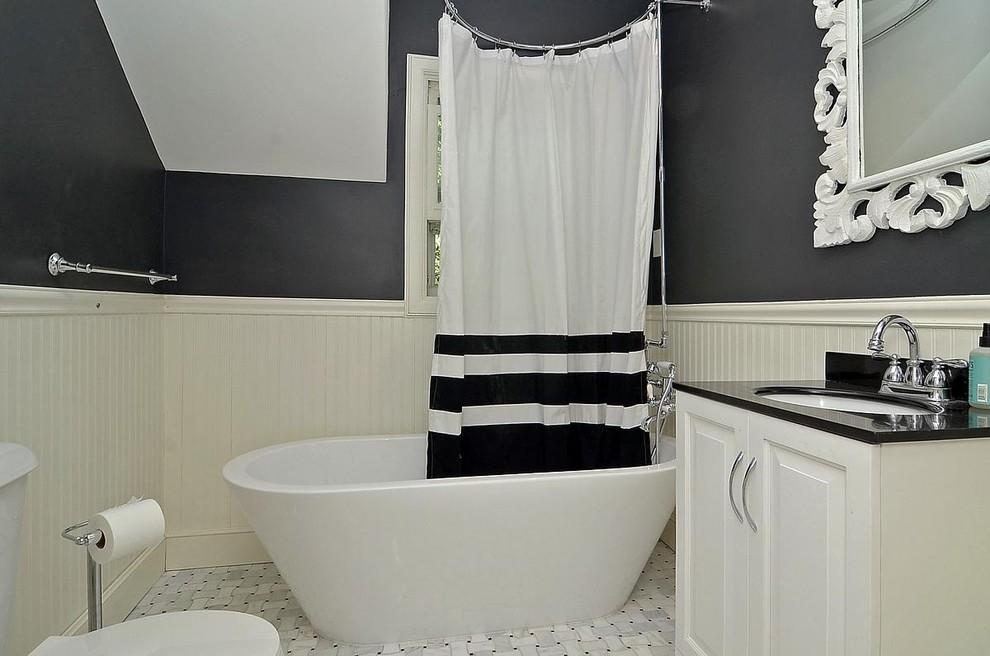 Siyah beyaz modern banyo dekorasyonu dekorstyle - Banyo dekorasyon ...
