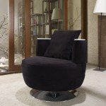 siyah suet kaplama modern tekli koltuk modeli