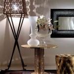 swarovski tasli metal dekoratif sehpa