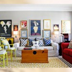 yaz renkli kucuk salon dekorasyonu