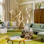yaz renkli salon dekorasyonu