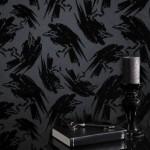 2015 trendi siyah desenli duvar kagitlari