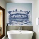 3d banyo duvar kagidi