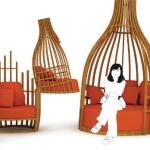 bambu bahce mobilyasi