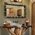 banyolarda rustik dekorasyon stili