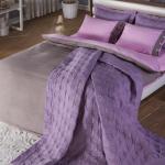 bellona lila renkli yatak ortusu