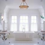 beyaz banyo dekorasyonu