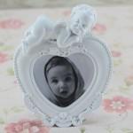 beyaz bebek resim cercevesi