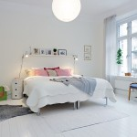 beyaz renkli yatak odasi
