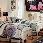 country stili iki kisilik genc odasi dekorasyonu