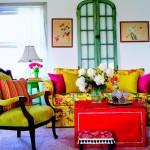dekorasyon da canlı ve parlak renkler