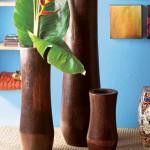 dekoratif ahsap vazolar