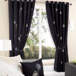 dekoratif siyah perde