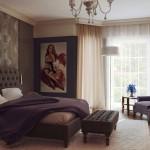 gosterişli yatak odasi dekorasyonu