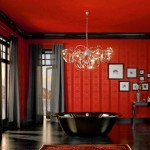 kirmizi siyah banyo dekorasyonu