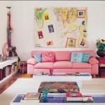 kucuk renkli salon dekorasyonu